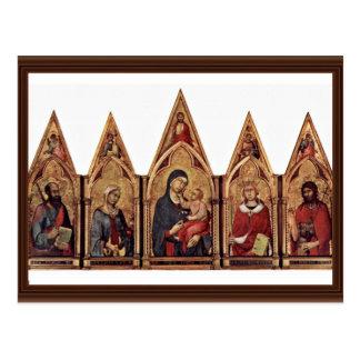 Altarpiece de Maestetã de Boston con la bendición  Tarjetas Postales