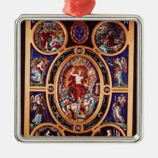 Altarpiece de Sainte-Chapelle Adorno Cuadrado Plateado