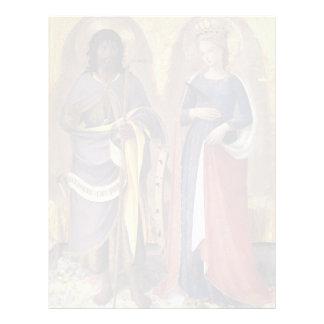 Altarpiece del Fra Angelico- Perugia (el panel der Membrete Personalizado