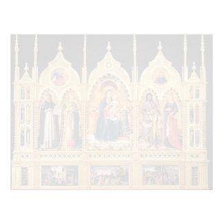 Altarpiece del Fra Angelico- Perugia Plantillas De Membrete