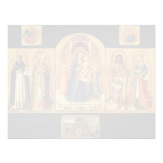Altarpiece del Fra Angelico- Perugia Plantilla De Membrete