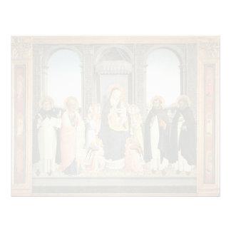 Altarpiece del Fra Angelico- San Domingo Plantilla De Membrete