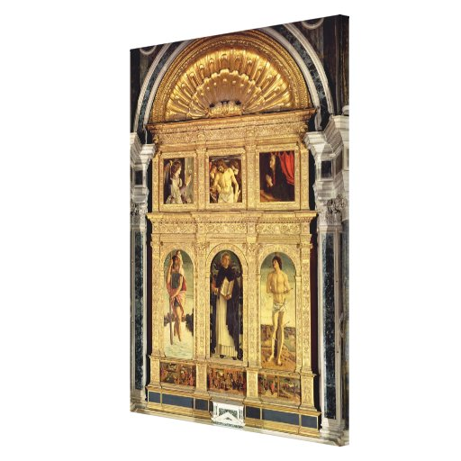 Altarpiece del St. Vincent Ferrer, c.1465 (polypty Lona Estirada Galerias