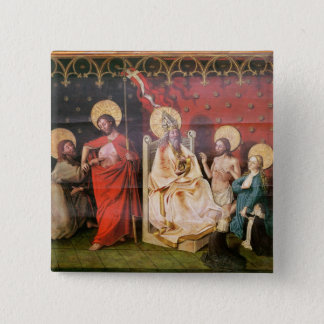Altarpiece depicting Christ with St. Thomas Pinback Button