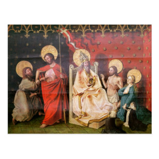 Altarpiece depicting Christ with St. Thomas Postcard