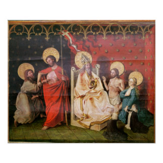 Altarpiece depicting Christ with St. Thomas Poster