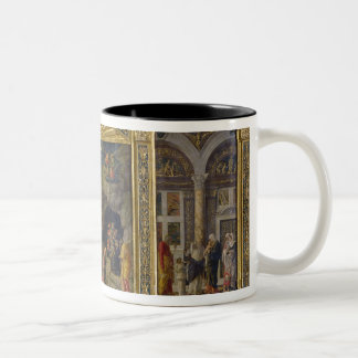 Altarpiece depicting the Ascension, the Adoration Two-Tone Coffee Mug