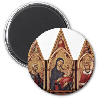 Altarpiece Of Boston'S Maestetã With Blessing And 2 Inch Round Magnet