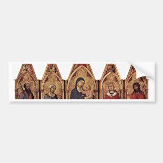 Altarpiece Of Boston'S Maestetã With Blessing And Car Bumper Sticker