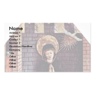 Altarpiece Of San Silvestro In Montappone Business Card Template
