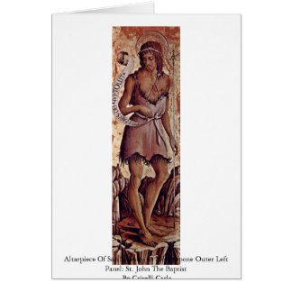 Altarpiece Of San Silvestro In Montappone Greeting Card