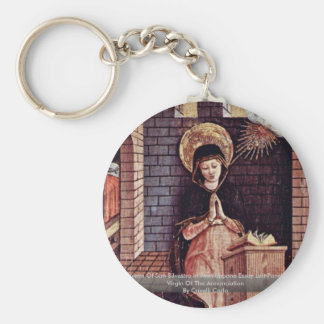 Altarpiece Of San Silvestro In Montappone Key Chain
