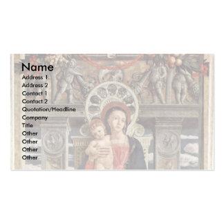 Altarpiece Of San Zeno Triptych In Verona Business Card Templates