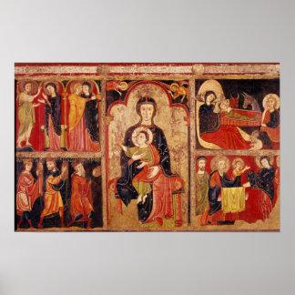 Altarpiece of St. Maria de Avila Poster