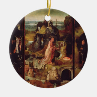 Altarpiece of the Hermits (oil on panel) Ceramic Ornament