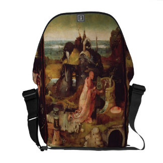 Altarpiece of the Hermits (oil on panel) Messenger Bag