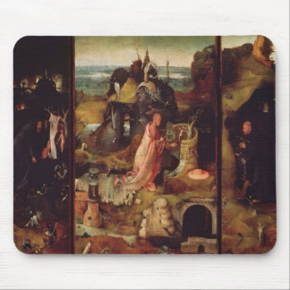 Altarpiece of the Hermits (oil on panel) Mouse Pad