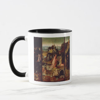 Altarpiece of the Hermits (oil on panel) Mug