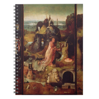 Altarpiece of the Hermits (oil on panel) Spiral Notebook