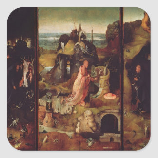 Altarpiece of the Hermits (oil on panel) Square Sticker