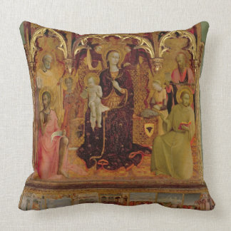 Altarpiece of the Madonna of the Snow, c.1430-32 ( Throw Pillow