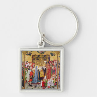 Altarpiece of the Seven Joys of the Virgin Keychain