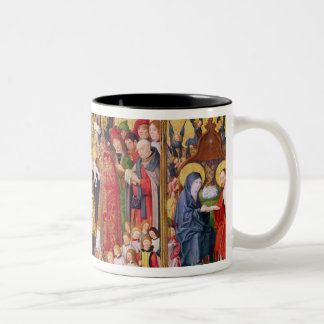 Altarpiece of the Seven Joys of the Virgin Two-Tone Coffee Mug