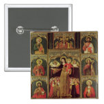 Altarpiece of the Virgin of the Rosary, c.1500 Pinback Buttons