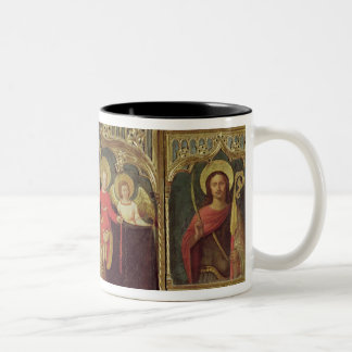 Altarpiece of the Virgin of the Rosary, c.1500 Two-Tone Coffee Mug