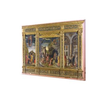 Altarpiece que representa la ascensión, la adoraci lienzo envuelto para galerias