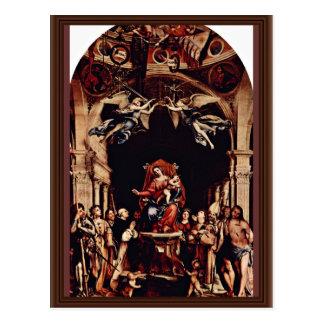 Altarpolyptychon de San Bartolomé en Bérgamo, cerc Tarjeta Postal