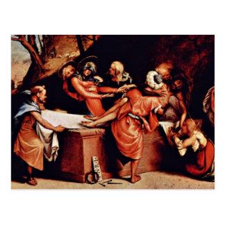 Altarpolyptychon de San Bartolomé en Bérgamo Pred Postal