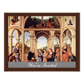 Altarpolyptychon Main Board The Birth Of Christ M Custom Invitations