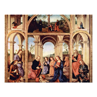 Altarpolyptychon Main Board The Birth Of Christ M Personalized Invites