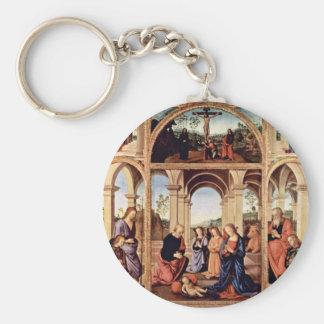 Altarpolyptychon Main Board: The Birth Of Christ M Keychains
