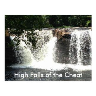 Altas caídas de las postales de la cascada del río