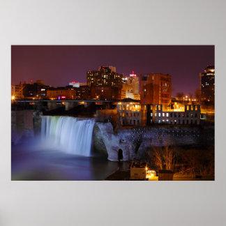 Altas caídas en Rochester céntrica Nueva York Posters