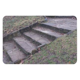 Altas escaleras de la piedra del parque iman flexible