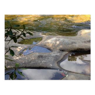 Altas postales de la roca de la mariposa del río