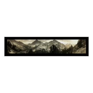 Altas sierras foto 1911 del cervecero del Mt Póster