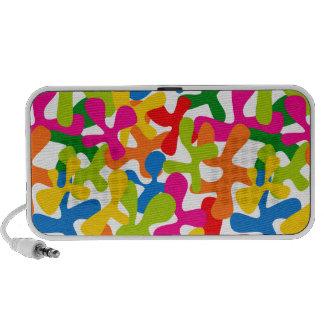 Altavoces abstractos coloridos del doodle