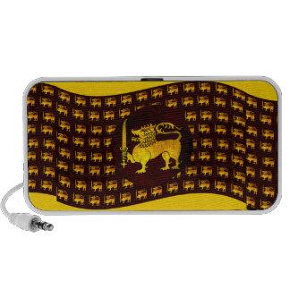 Altavoces amarillos de Sri Lanka del león
