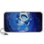 Altavoces azules del diseño del cráneo