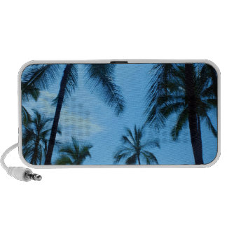 Altavoces azules del Doodle de las palmeras de Haw