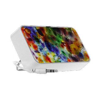 Altavoces coloridos de IPod del vitral abstracto