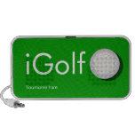 altavoces de encargo del iGolf para el golfista
