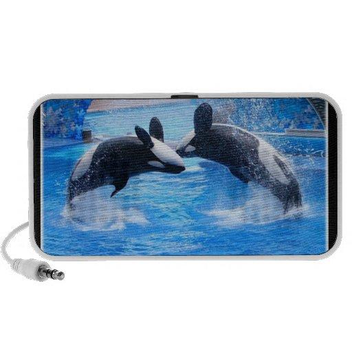 Altavoces de la foto de la ballena