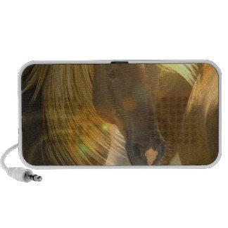 Altavoces de la foto de los caballos salvajes