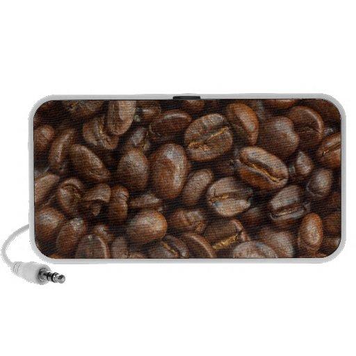 altavoces de los granos de café