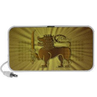 Altavoces de oro de Sri Lanka del león